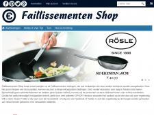 Screenshot van de website van Faillissementen Shop
