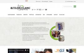 Screenshot van de website van Beeld Reclame