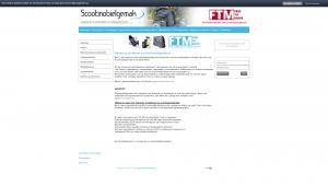 Screenshot van de website van Scootmobiel gemak