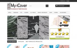 Screenshot van de website van I Cover