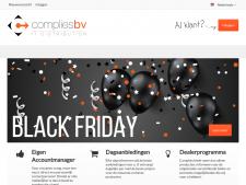 Screenshot van de website van Complies