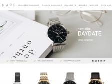 Screenshot van de website van Renard Watches