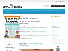 Screenshot van de website van Stapel of fietsen