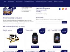 Screenshot van de website van Dutch Body Shop