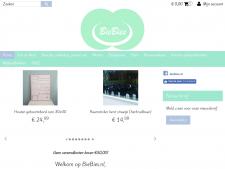 Screenshot van de website van Biebies