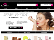 Screenshot van de website van ParfumSpecialist