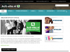 Screenshot van de website van Acti Vita