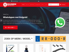 Screenshot van de website van Ruijgrok Automaterialen