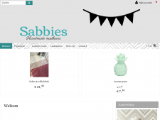 Screenshot van de website van Sabbies
