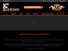 Screenshot van de website van Fuergnio