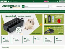 Screenshot van de website van Ongedierte Shop