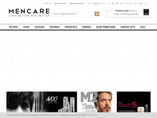 Screenshot van de website van Men Care Store
