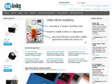 Screenshot van de website van EZ Inkt