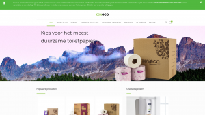 Screenshot van de website van 100 Procent Eco