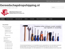 Screenshot van de website van Gereedschap Dropshipping