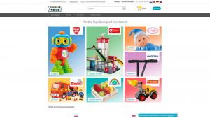 Screenshot van de website van Thimble Toys