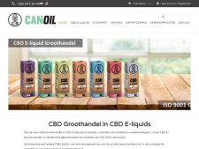 Screenshot van de website van Canoil