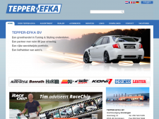 Screenshot van de website van Tepper EFKA