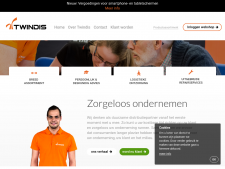 Screenshot van de website van Twindis