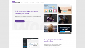 Screenshot van de website van Woocommerce