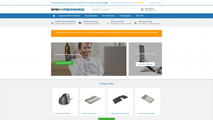Screenshot van de website van Easy Ergonomics
