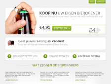 Screenshot van de website van Bierring