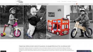 Screenshot van de website van Timidom