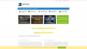Screenshot van de website van Jabostone