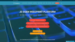 Screenshot van de website van Prindustry