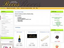 Screenshot van de website van Rocos